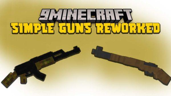 Простое оружие Майнкрафт 1.16.5 (Огнестрельное)