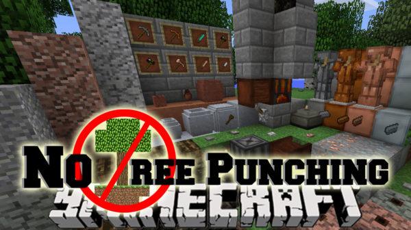 No tree Punching Мод майнкрафт 1.16.5 1.12.2