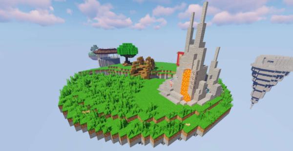 SkyBlock Uncharted Карта Майнкрафт 1.16.5