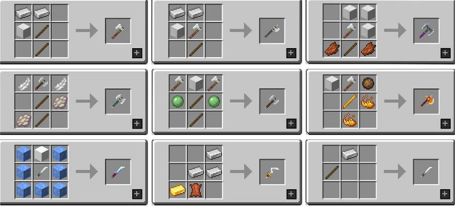 MC Dungeons Weapons Мод 1.16.5 (Уникальное оружие)