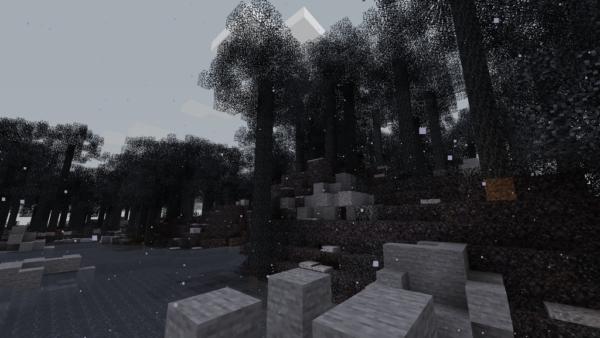 Опустошённый лес Мод 1.16.5 (сгоревший)