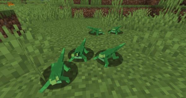 Рептилии мод майнкрафт 1.16.5 (Домашние животные)