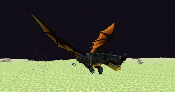 Выживание в роли Дракона мод Майнкрафт 1.16.5