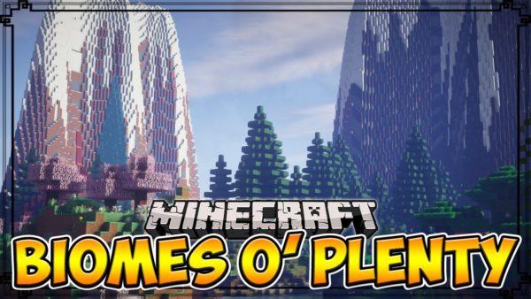 Biomes O' Plenty Мод 1.16.5/1.12.2 (Тонна новых биомов)