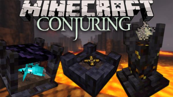 The Conjuring мод 1.16.5 (Спавн мобов, ритуалы)