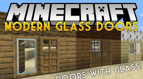 Стеклянные модерн двери мод 1.17