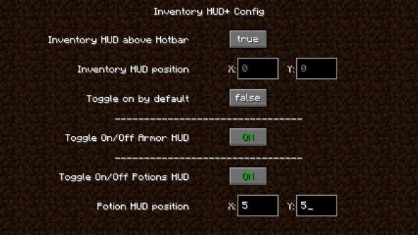 Inventory HUD+ мод 1.17 / 1.16.5 / 1.12.2 (Просмотр инвентаря не открывая)