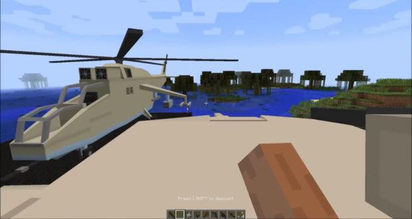 вертолет minecraft