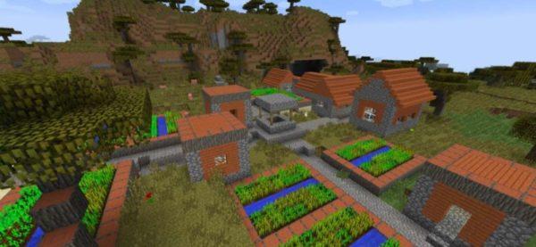 майнкрафт деревня