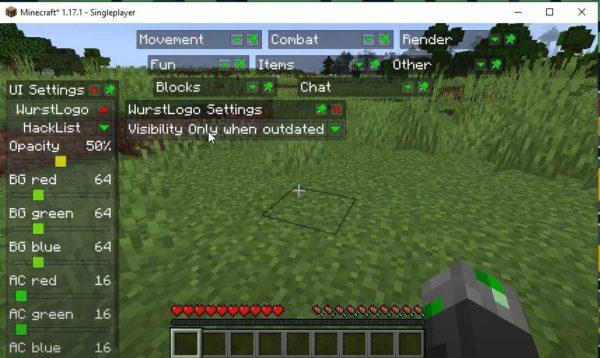 Minecraft 1.17.1 чит клиент