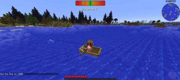 рыбалка Майнкрафт
