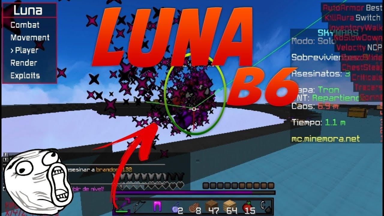 Luna чит клиент на Майнкрафт