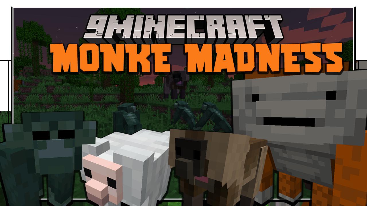 Monke Madness Мод 1.16.5 (Обезьяны, джунгли)