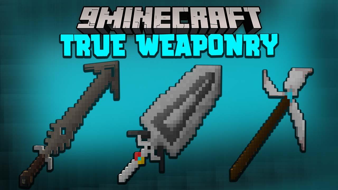 True Weaponry мод 1.16.5 (Мечи и косы)