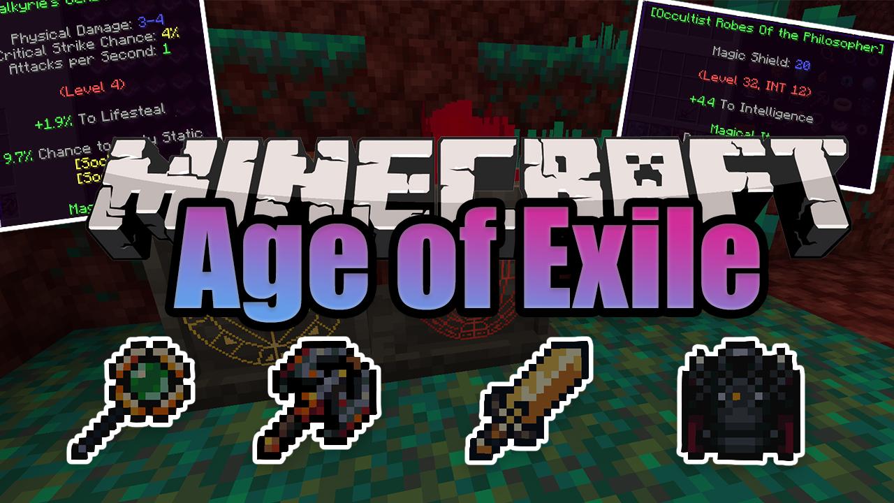 Age of Exile мод 1.16.5 (приключения, RPG)