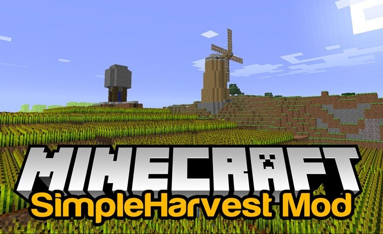 SimpleHarvest мод 1.16.5 (Сбор урожая правой кнопкой мыши)