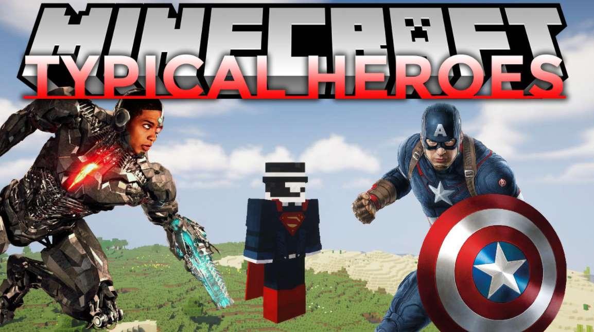 мод на супергероев в майнкрафт